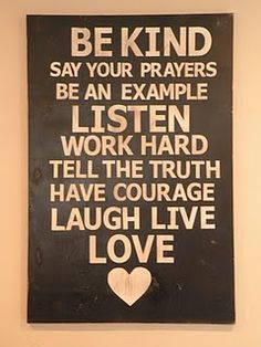 beautiful prayer, word of wisdom, subway art, life rules, tell the truth, kid rooms, hous, inspiration quotes, family rules