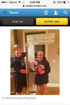 Promposal! Love this!!!