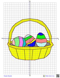 Easter Basket - 4 Quadrant Graphing Worksheet