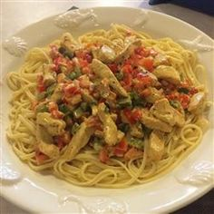 Cajun Chicken Pasta | Chicken strips are sautéed with bell peppers, mushrooms, onions, and Cajun seasonings, and then finished with cream, garlic, and basil.