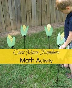 "Great fall numeracy activity! You can also use only prime numbers or have kids do a ""connect the corn"" search for them where they have to pick the corn in order. ~Bon"