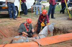 Look closely at this photo.  Yes, it's a life-sized replica of a horse, stranded in a mud pit, and these folks are about to learn to save its life.  From TEEX - Fire and Emergency Services Training  Our Extension Program along with the Texas A&M Veterinary Emergency Team piloted our first Animal Technical Rescue course!  https://www.facebook.com/teexfire +Texas A&M Veterinary Medicine Emergency Team  #TAMU   #TEEX