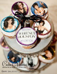 Honoring Whitney Houston Cupcakes