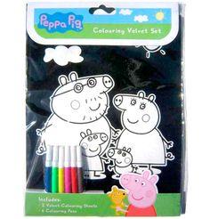 Set de Colorear Lamina terciopelo Peppa Pig por 3 euros