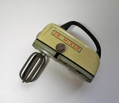 Vintage 1960s Tin Toy Hand Mixer by borahstyle on Etsy, $18.00