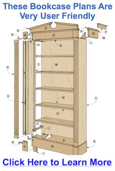 Bookcase Woodworking Plans Free