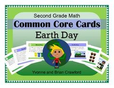For 3rd grade - Earth Day Common Core Task Cards $