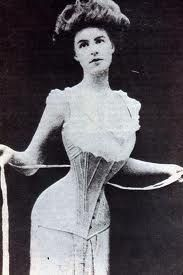 Corsets were necessary for the wasp-waist figure of the Gibson Girl.