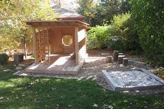 incredible outdoor playhouse built by a mom!