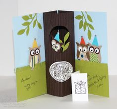Stampin' Up! Owl Punch  by Jill Hilliard at Jill's Card Creations: Thirteen!