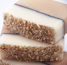 Oatmeal and Honey Soap Handmade Cold Process, Vegan Friendly