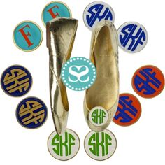 Dressing up your old favorites or breaking in a new pair, you will adore the new monogram shoe clips that just arrived!  SwellCaroline.com