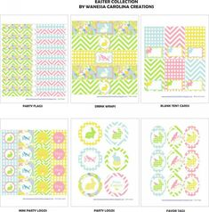 "Free ""Birds and Bunnies"" Easter printables"
