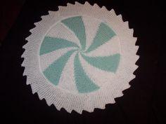 Loom knit pinwheel baby blanket!