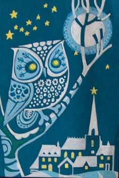 The Owl by Frances Olive Esme Eve #art