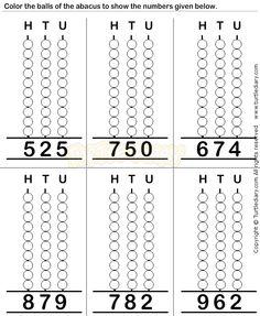 Abacus10 - math Worksheets - preschool Worksheets