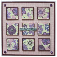 Free P Handmade Birthday Card by Helle Belles Cards