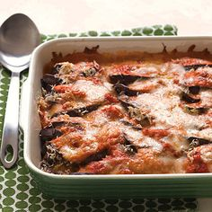 Lighter Eggplant Parmesan #Italianrecipes #healthymakeover #lowercal