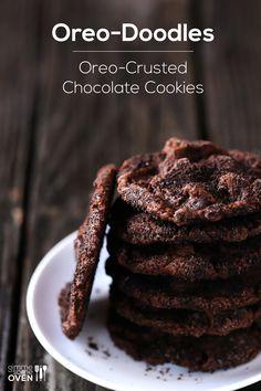 Oreo-Doodles : Oreo crusted cookies