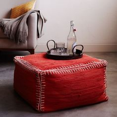 recycled rag pouf