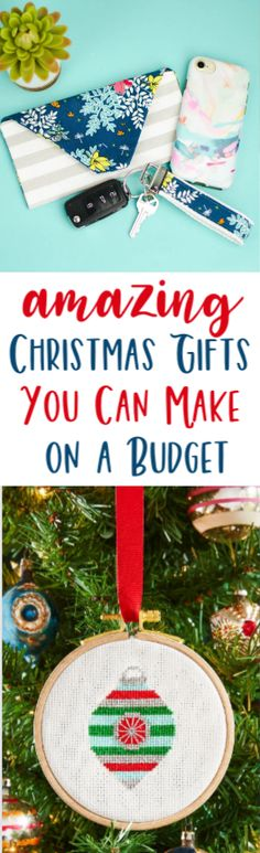 It's  not always easy to find Amazing Christmas Gifts You Can Make on a Budget. That's  why we have put together this list for you! There's something here for nearly  everyone on your list. #christmas  #diychristmas #holidays #diyholidayideas #diychristmasideas #diychristmasdecor  #diychristmasgiftideas #christmascrafts #christmaskidcrafts #diygiftideas #christmasdiy  #christmascrafts #diychristmasideas