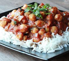 Chana Masala in the slow cooker is vegetarian (and frugal!) Serve over brown rice (for Phase 1) or quinoa (for Phase 3).