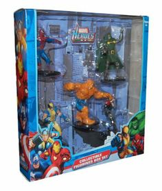 Marvel Heroes Collectible Figurines Box Set - includes spiderman, thing, wolvering, dr doom, and black widow by MARVEL, http://www.amazon.com/dp/B009HMF6TW/ref=cm_sw_r_pi_dp_O4M5qb17VQ0ND black widow, toy figur, collect figurin, marvel toy, da marvel, hero collect, doom, boneco da, marvel heroes