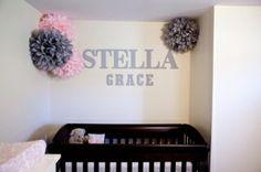 pink flowers, baby girl names, color combos, girl nurseries, future babies