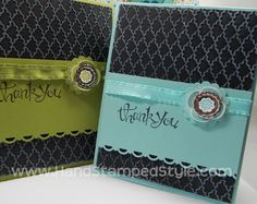 Hand Stamped Style: Madison Ave Chalkboard Note Card Set