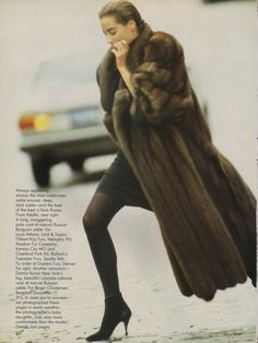 vogue, december, model, 1986 sabl, fashion tale, decemb 1986, fur decad