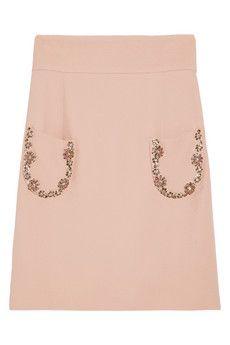 Miu Miu Jewel-embellished cady skirt NET-A-PORTER.COM via Discoveredd.com