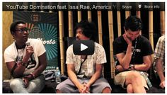 Here is Part 3 of our Film Courage / HollyShorts Panel - YouTube Domination: How YouTubers Are Taking Over The Film World featuring Issa Rae (Awkward Black Girl), America Young (Comediva), Ryan Reyes (PimplyWimp), and Stephen Dypiangco & Patrick Epino (National Film Society).  We hope you can benefit from this video capture, we tried to grab what we could while also moderating the panel.  There was only one microphone so there are places where audio may be hard to understand.
