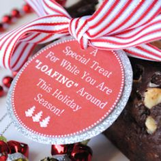 Neighbor gift idea for Christmas with free printable tag.