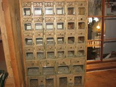 US Postal Post Office Boxes Beveled Glass Brass