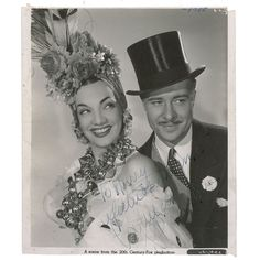 Carmem Miranda and Don Ameche My favorite Actress from the 40s