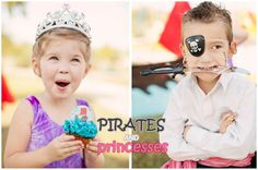 Pirates 'n Princesses Party! Perfect for double birthdays or gender-neutral birthdays!
