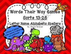 Words Their Way Games for Unit 3 Sorts 13-26 in Letter Name -Alphabetic Spellers from Miss Cramer's Resource Corner on TeachersNotebook.com -  (99 pages)  - This is a set of games for (red book) sorts 13-26 to add to your Words Their Way weekly or bi-weekly schedule.