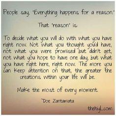 happens for a reason, quot