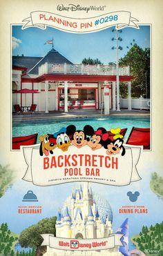 Walt Disney World Planning Pins: Backstretch Pool Bar