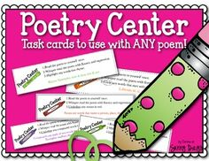Poetry Center Task Cards to use with any poem. Great center to use year round!