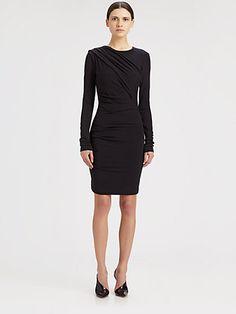 T by Alexander Wang - Asymmetrical Draped Stretch Jersey Dress - Saks.com, $250