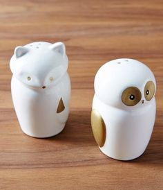 fox and owl salt and pepper shakers  http://rstyle.me/n/r7szipdpe