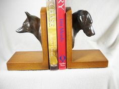 $95 Fox & Hound Bookends  Foxhunt Equestrian Horse Equine