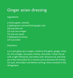 Ginger Asian Dressing