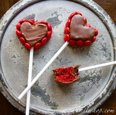 Red Velvet Cake Pop Hearts @Lilyshop