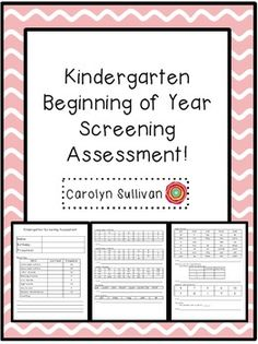 Beginning Of Year Kindergarten Screening Assessment