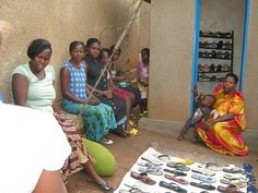 Doing business in Uganda - Annet Kirumira opened a water kiosk a few months ago. Since majority of her customers are females, she chose to have a shoe business inside the kiosk as well.