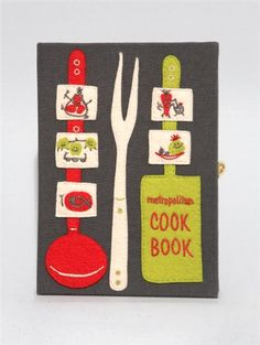 METROPOLITAN COOKBOOK BOOK CLUTCH BAG    Olympia Le-Tan