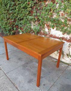 Los Angeles:  Long   Sleek Danish Modern Teak Mid Century Dining Table  $450 - http://furnishlyst.com/listings/842341