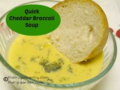 The Frugal Pantry: Quick and Easy Cheddar Broccoli Soup